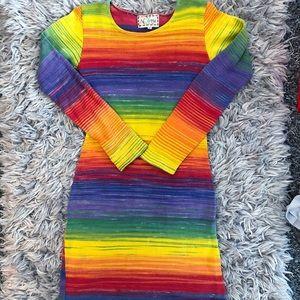 KNIT RAINBOW BOUTIQUE RARE PRIDE DRESS